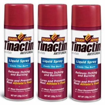 Tinactin Athlete's Foot Liquid Spray Antifungal - 5.3 oz (Pack of 3)