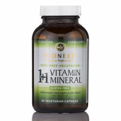 1+1 Vitamin Mineral Iron-Free - 60 Vegetarian Capsules by Pioneer