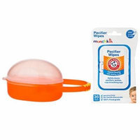 Nuby Paci Cradle Pacifier Box, Orange with Pacifier Wipes