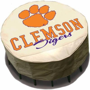 NCAA Mr. Bar-B-Q Round Table Cover, University of Clemson Tigers