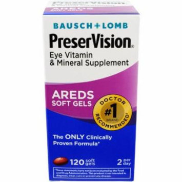 4 Pack - Bausch & Lomb Preservision Soft Gels, 120 Count Each