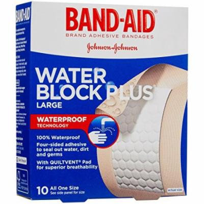 5 Pack - BAND-AID Bandages Water Block Plus Large 10 Count Each