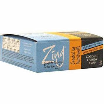 Zing Coconut Cashew Crisp Nutrition Bars, 1.76 oz, 12 count