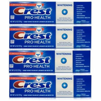 Pro-Health Whitening Fresh Clean Mint Toothpaste 6 Oz (Pack of 4)