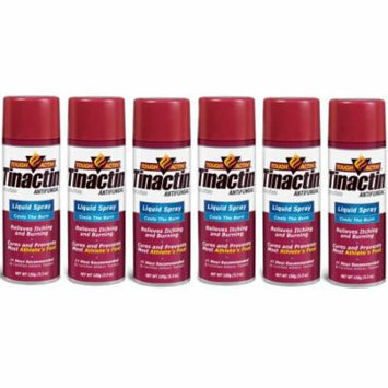 Tinactin Athlete's Foot Liquid Spray Antifungal - 5.3 oz (Pack of 6)