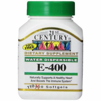 5 Pack 21st Century E-400 Softgels 110 Soft Gels Each