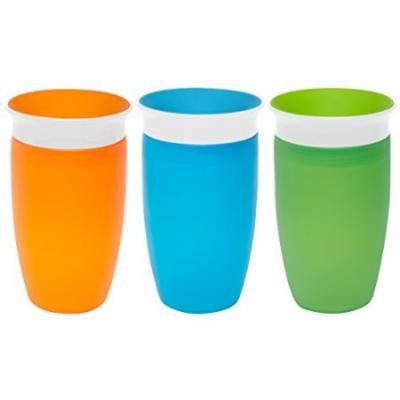 Munchkin Miracle 360 Degree 10 Ounce Spoutless Cup, 3 Pack, Orange/Blue/Green