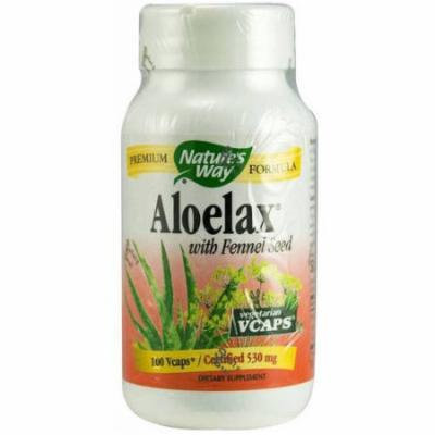 Nature's Way Aloe Lax with Fennel Seed Vegetarian Capsules, 100 CT