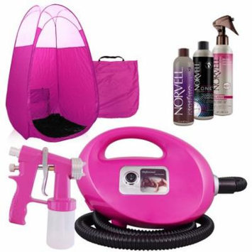 Pink Fascination FX Spray Tan Kit with Venetian & ONE Tan Solutions & Pink Tent