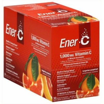 EnerC Effervescent Powdered Drink Mix, Vitamin C, 1000 mg, Tangerine Grapefruit, 30 CT