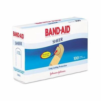 4 Pack - BAND-AID Bandages Comfort Sheer 3/4 Inch 100 Each