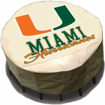 NCAA Mr. Bar-B-Q Round Table Cover, University of Miami Hurricanes