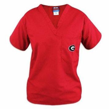 Georgia Bulldogs Red Scrubs Top