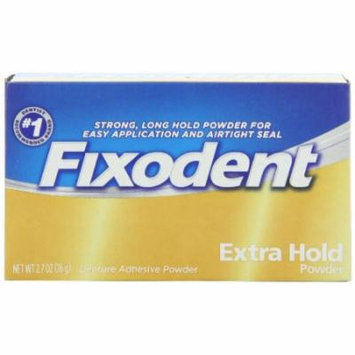 2 Pack - Fixodent Denture Adhesive Powder Extra Hold 2.70oz Each