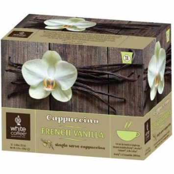 White Coffee French Vanilla Cappuccino K-Cups, .44 oz, 12 count