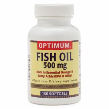 Fish Oil Softgels 500 MG SG, 130/BT, 1 Count