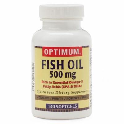 Fish Oil Softgels 500 MG SG, 130/BT, 1 Count