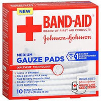 6 Pack - BAND-AID First Aid Medium Gauze Pads, 3 in x 3 in, 10 Each