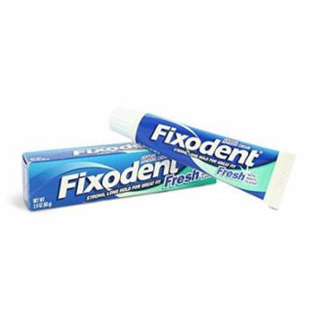 2 Pack - Fixodent Denture Adhesive Cream, Fresh Mint 2.40 oz Each