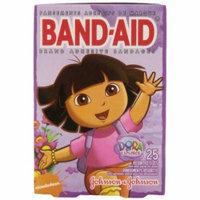 4 Pack Band-Aid Adhesive Bandages Dora the Explorer Decorated Bandages, 25 Each