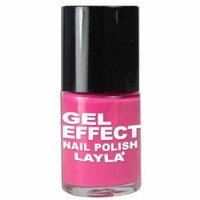 Layla Gel Effect Nail Polish, #3 Barbie Pink