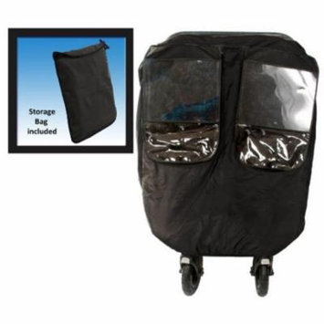 Comfy Baby 2600 Universial Deluxe Twin Stroller Weather Protector with 2 Front Windows & Netting, Black - 12 Piece