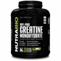 NutraBio 100% Pure Creatine Monohydrate Powder - 2500 Grams - HPLC Tested, Micronized, Unflavored, No Additives