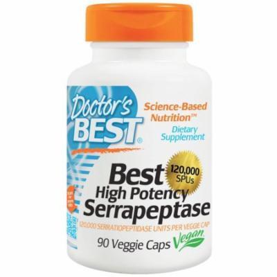 Doctor's Best High Potency Serrapeptase 120,000, 90 CT