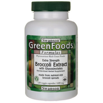 Swanson Extra-Strength Broccoli Extract with Glu 600 mg 120 Veg Caps