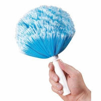 Miles Kimball Blue Long Reach Telescoping Duster