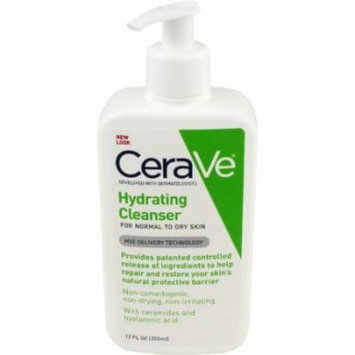4 Pack - CeraVe Hydrating Cleanser, 12 Ounce Each