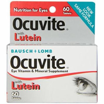 3 Pack Bausch & Lomb Ocuvite Eye Vitamin & Mineral Supplement with Lutein 60 Ea
