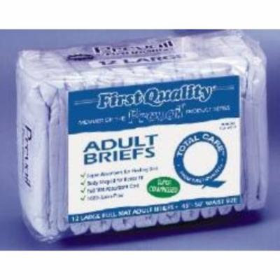 First Quality Brief First Quality Tab Closure Large Disposable Moderate Absorbency (#IB-013/1, Sold Per Case)