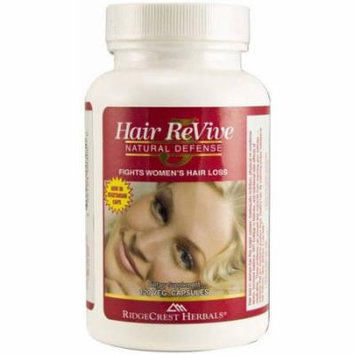 Ridgecrest Herbals Hair Revive, Women's Hair Loss Vegetarian Capsules, 120 CT