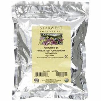 Starwest Botanicals Organic Turmeric Root Powder, 1 Pound Bulk Curcumin Spice (Pack of 2)