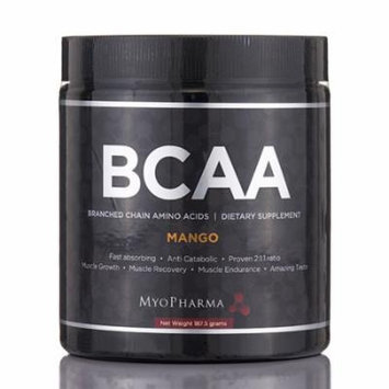 BCAA Branded Chain Amino Acids (Mango Flavor) - 187.5 Grams by MyoPharma