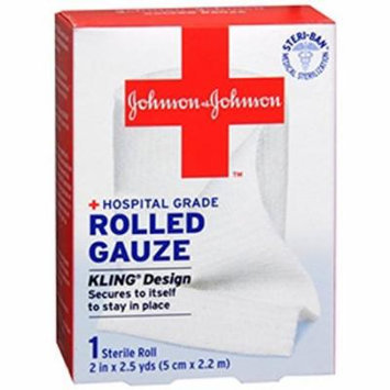 3 Pack- Johnson & Johnson Red Cross First Aid Rolled Gauze 2