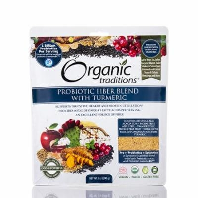 Probiotic Fiber Blend with Turmeric - 7 oz (200 Grams) by Organic Traditions