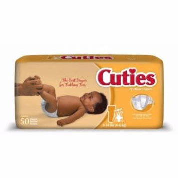 First Quality Baby Diaper Cuties Tab Closure Size 1 Disposable Heavy Absorbency (#CR1001, Sold Per Case)