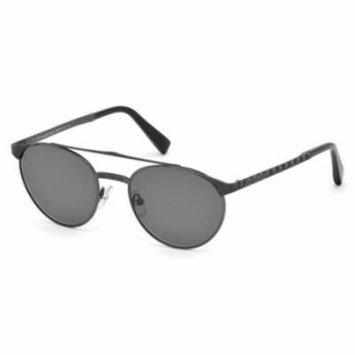 ERMENEGILDO ZEGNA Sunglasses EZ0026 09A Matte Gunmetal 52MM