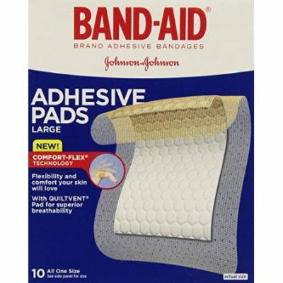 4 Pack - Band-Aid Adhesive Pads All Purpose Protection, Large - 10 Each