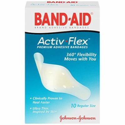 4 Pack - Band-Aid Premium Adhesive Bandage Activ-Flex Regular, 10 count Each
