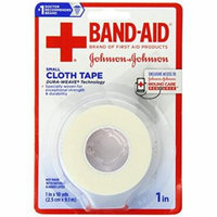 2 Pack BAND-AID - Johnson & Johnson Small Cloth Tape 1 in X 10 yds Each