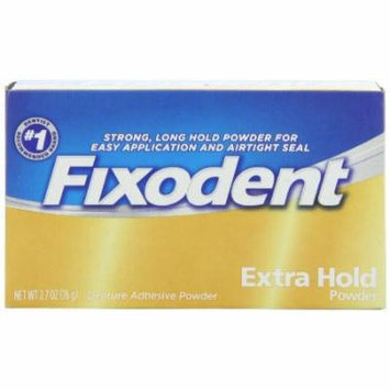 3 Pack - Fixodent Denture Adhesive Powder Extra Hold 2.70oz Each