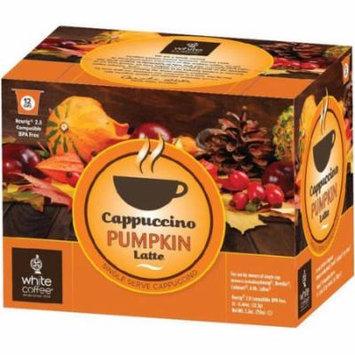 White Coffee Pumpkin Latte Cappuccino Cups, .44 oz, 12 count