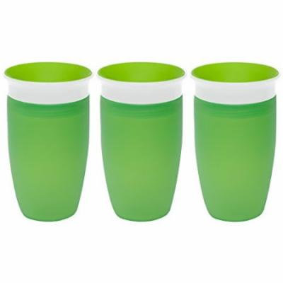 Munchkin Miracle 360 Degree 10 Ounce Spoutless Cup, 3 Pack, Green/Green/Green