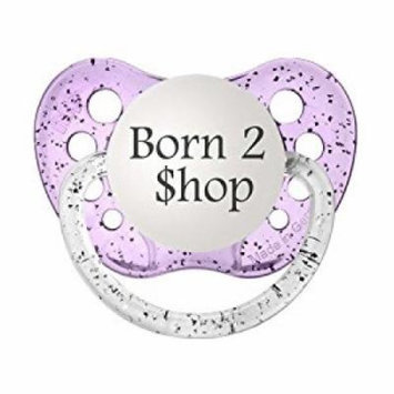 Personalized Pacifiers Born 2 Shop Pacifier in Purple