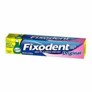 2 Pack - Fixodent Original Denture Adhesive Cream 2.4oz Each