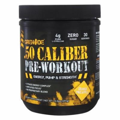 Grenade - .50 Caliber Pre-Workout Orange Pineapple 30 Servings - 291 Grams
