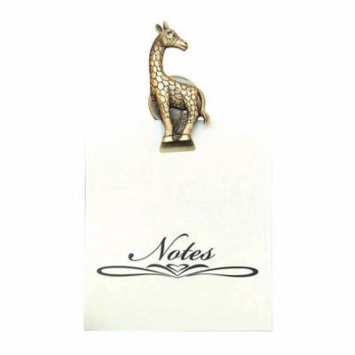 Greatlookz All For Giving Giraffe Memo Note Pad with Magnetic Clip, Brass